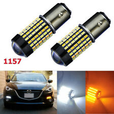 120-SMD LED 1157 Dual-Color White Amber Switchback Turn Signal Bulb Super Bright