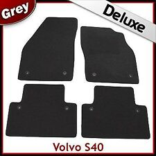 Volvo S40 Mk2 2004 - 2009 2010 2011 2012 Tailored LUXURY 1300g Car Mats Grey