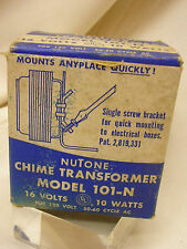 Vintage Nutone Chime Transformer Model 101-N in Original Box 16 Volts 10 Watts.
