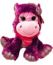 "First and Main Valentine Gal Pals 14"" Purple Hippo"