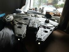 More details for huge millennium falcon with working lights/ramp deagostini kit built