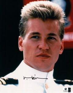 Val Kilmer Signed Autographed 8X10 Photo Top Gun Ice Man Close-Up GA COA