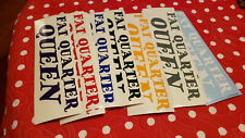 2 for $6 Fat Quarter Queen Quilter sewing fabric sign & decoration sticker