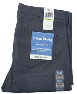 Levis DOCKERS Mens Extra Slim Fit Khaki Chinos The clean Khaki No wrinkles