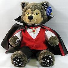 Build A Bear Factory RARO & difficile da trovare Howl-o-Ween LUPO MANNARO & Vampiro Halloween Nuovo con Etichetta