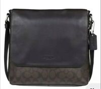 Coach Men's Pvs Handbag Crossbag Brown Used
