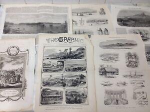 Collection of 6 Antique Prints Guinea, Sumatra, Andanan Isle Date 1848-1884 GP12