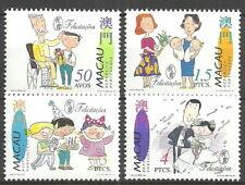 Macau - Glückwünsche Satz postfrisch 1996 Mi. 864-867