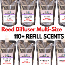 DESIGNER LUXURY FRAGRANCE REED DIFFUSER REFILL OIL - HIGHLY POTENT *MULTI SIZES*