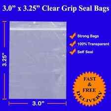 """1000 de espesor Agarre Sello de cremallera bolsa de plástico resellable Clear Poly 3"""" X 3.25"""" más barato"""