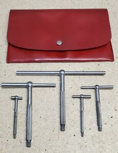 """Starrett No. 229 telescoping gages - set of 5 - 1/2"""" to 6"""""""