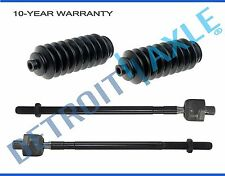 2 NEW Inner Tie Rod End + 2 Rack & Pinion Boots for Talon Eclipse Laser Vista
