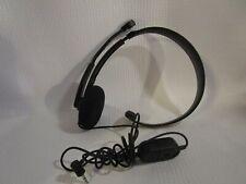 Genuine Microsoft Black XBOX 360 Wired Chat Headphones Headset with Boom Mic
