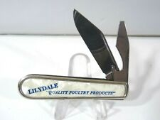 """VINTAGE 60'S COLONIAL PROV. R.I. JACK KNIFE LILYDALE """"QUALITY POULTRY PRODUCTS"""""""