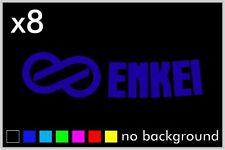 (8) Enkei Wheel Logo Sticker Vinyl Decal Wheel Rim RPF1 GTC01 PF01 Replacement