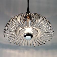 ANCIENNE SUSPENSION CHROME VINTAGE METAL PENDANT LAMP DESIGN ANNÉES 70'