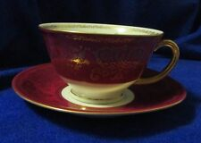 Beautiful Puls Czechoslovakia Cup & Saucer Set ~ Red/Gold