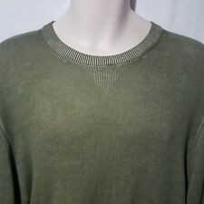 Men's AG Adriano Goldschmied Green Crewneck Cotton Sweater Size Large
