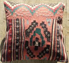 (40*40cm, 16inch) Boho style vintage kilim cushion cover musk pink blue