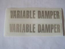 Yamaha RD 350 YPVS Variable Damper Fork decals F1 N1 Models