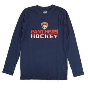 Flordia Panthers Outerstuff NHL Youth Blue Performance Long Sleeve T-Shirt