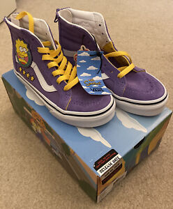Vans Simpsons Lisa For President Purple High Top Sneakers Girls Size 13.5 NWT