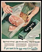1950 CUT-RITE WAXED PAPER Vintage Mid-Century Retro Kitchen Decor AD