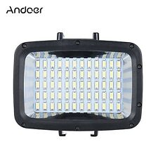 Andoer 60pcs LED Immersioni fill-in Luce Ultra Luminosa 1800lm IMPERMEABILE underwat.