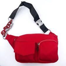 Red Chain Belt Bag / Fanny Pack Or Travel shoulder bag