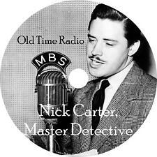 Nick Carter, Master Detective Old Time Radio Show OTR 144 Episodes on 1 MP3 DVD