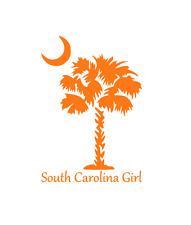 South Carolina Girl Decal Sticker for Car, Yeti, Laptop, Travel Mug, Tumbler