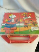 Peanuts Snoopy Charlie Brown Gang Puzzle Blocks with case