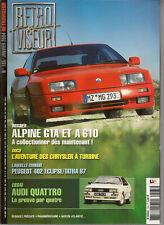RETROVISEUR 185 ALPINE GTA & A610 AUDI QUATTRO PEUGEOT 202 CHRYSLER A TURBINE