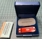 LEATHERMAN MICRA Multi-Tool Stainless Anodized RED  KeyChain w/ Presentation Box