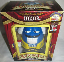 NEW M&M Blue Nutcracker Character In Yellow Pants Sweet Holiday Candy Dispenser