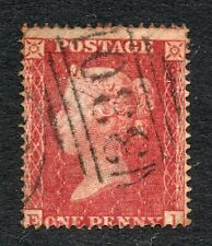 QV line engraved penny red star Sg 36 spec C11 ( E I ) un-plated