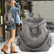 Hot Womens Rivets Handbag Leather Backpack Purse Sling Traveling Shoulder Bag