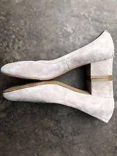 a800da6825f  148 Jeffrey Campbell BITSIE Lux Suede Block Heel Comfort Elastic Pump Size  8