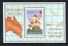 1988 Pitcairn Islands Celebrates Australia's Bicentenary - MUH Mini Sheet