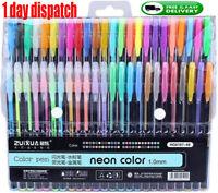 ☆48 Gel Pen Set Metallic Pastel Glitter Neon Gel Pens for Adult Colouring Book☆