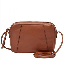 NWT Fossil Rae Crossbody Brown ~ Leather ~ Retail $98