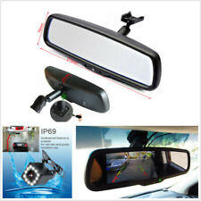 Universal 4.3 Inch TFT LCD Mirror Display Monitor+12LED 170° HD Rear View Camera