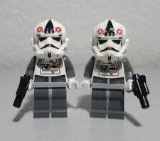 2)AT-AT Driver Pilot Lot 8129 8084 Star Wars LEGO Minifigure Mini Figure