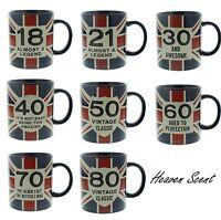 Gift Boxed Union Jack Mug Keepsake Happy Birthday Gift Ideas for Him Men Idea