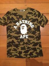A BATHING APE BAPE camo T-shirt men's small, excellent condition