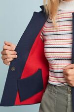 New Anthropologie Amoruso Blue Two Tone Cardigan Jacket Top by Moth Medium P