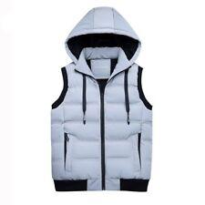 Men Winter Vest Thick Casual Slim Duck Down Vests with Hat Detachable Warm Cloth