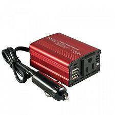 Foval 150W Car Power Inverter DC 12V to 110V AC Converter with 3.1A Dual USB