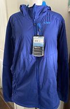 NWT Men's XXL 2XL Blue OUTDOOR RESEARCH Ascendant Nimbus Hooded Jacket, Polartec