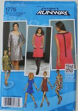 Simplicity 1776 Misses / Miss Petite Lined Dresses Sewing Pattern Sz 12-20